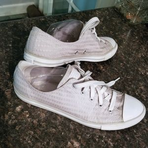Converse grey/silver fabric sneakers 11